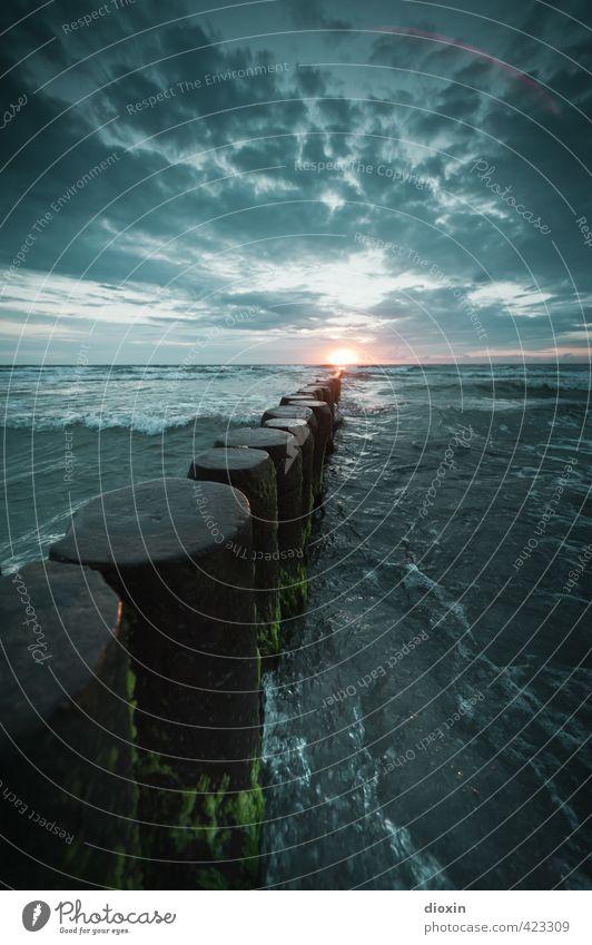 Buhne´s burning (Pt.3) Himmel Natur Ferien & Urlaub & Reisen Wasser Sommer Sonne Meer Landschaft Wolken Strand Ferne Umwelt Freiheit natürlich Wetter Wellen