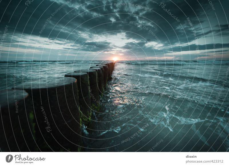 Buhne´s burning (Pt.2) Himmel Natur Ferien & Urlaub & Reisen Wasser Sommer Sonne Meer Landschaft Wolken Strand Ferne Umwelt Freiheit natürlich Wetter Wellen