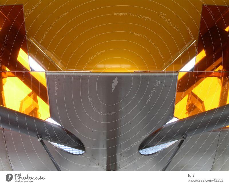 dach gelb Stil Metall Architektur Ecke Dach Station Stahl Kunststoff Biegung Bushaltestelle