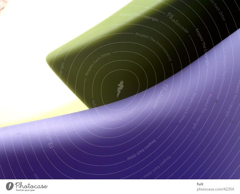 form2 Schwung weiß grün violett Design rund Dinge Stil hellgrün dunkelgrün Wellenform Swing Häusliches Leben Strukturen & Formen Bewegung Kunststoff Linie Ecke