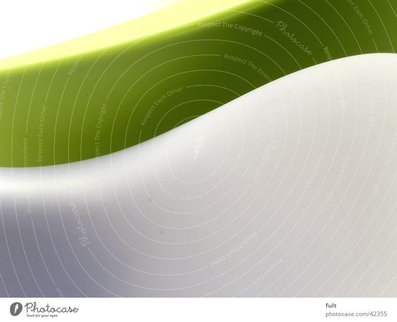 form1 Schwung weiß grün Design rund dunkelgrün grau Stil Dinge Möbel gekrümmt Wellen Wellenform Swing Häusliches Leben Strukturen & Formen Bewegung Kunststoff