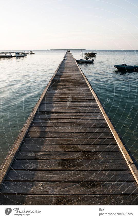 Steg Natur Ferien & Urlaub & Reisen Wasser Sommer Meer Erholung ruhig Ferne Küste Freiheit Holz Tourismus Schönes Wetter Insel Urelemente Unendlichkeit