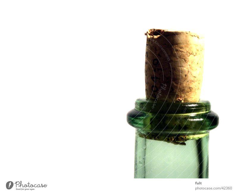 korken Korken Weinflasche Flaschenhals grün rund durchsichtig Stil Cork Alkohol Verschluss Glas Gefäße volumen tranzparent marko Nahaufnahme opjete genießen