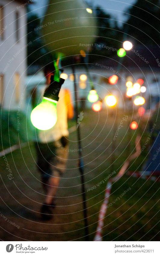 es ist grün Lifestyle elegant Stil Glück Kunst Veranstaltung ästhetisch Musikfestival Freakstock Lampe Glühbirne mehrfarbig leuchtende Farben Lichterkette