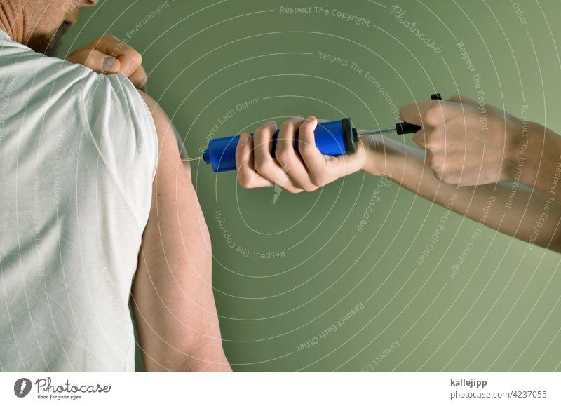 antikörper Impfung Spritze spritzen Oberarm Gesundheit Medikament Impfstoff Medizin Krankheit Nadel Virus Behandlung Einspritzung Krankenhaus Grippe Klinik