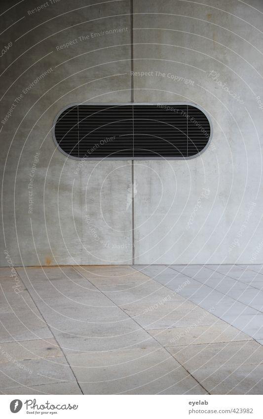 The Eye Of The Beton Stadt Haus schwarz Fenster Wand Mauer Architektur Gebäude grau Stein Fassade Hochhaus Design modern trist