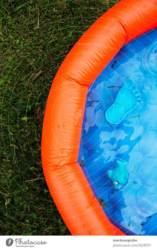 pool blau grün Freude Wiese Sport Spielen Schwimmen & Baden Glück Garten orange Freizeit & Hobby Wohnung sitzen Häusliches Leben lernen Lebensfreude
