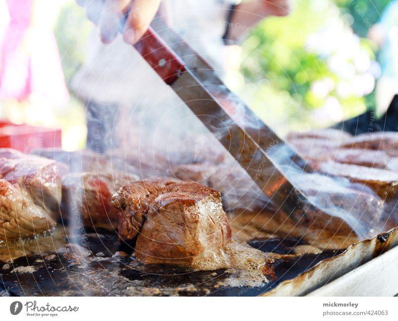 Saftiges Wochenende Fleisch Ernährung Ferien & Urlaub & Reisen Ausflug Abenteuer Sommer Sommerurlaub Strand Grill Erholung Fressen genießen heiß saftig Freude