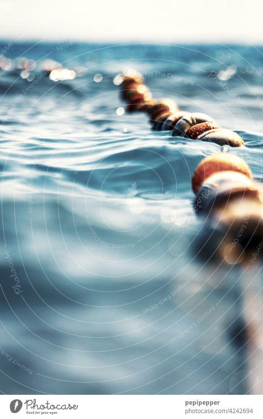 Schwimmleine/Trennleine für Schwimmer/Nichtschwimmer Schwimmbad Leinen Schwimmen & Baden schwimmen schwimmend nicht Schwimmer Wasser tauchen Spielen See Sommer