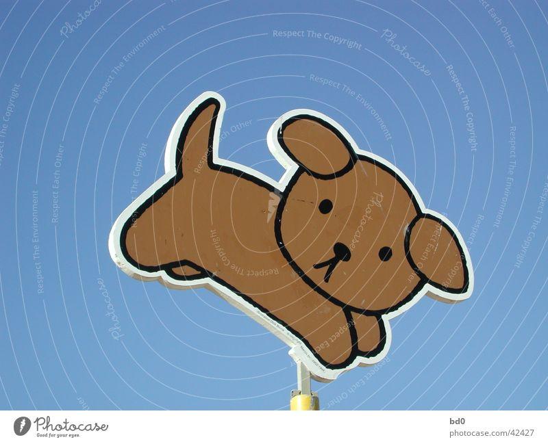 hund Himmel blau Hund Schilder & Markierungen Grafik u. Illustration Symbole & Metaphern Farbverlauf hell-blau