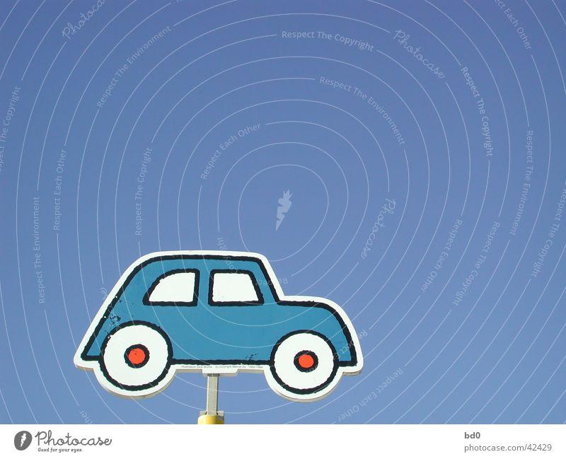 highway to heaven Farbverlauf Verkehr PKW Grafik u. Illustration Himmel blau Rad Schilder & Markierungen