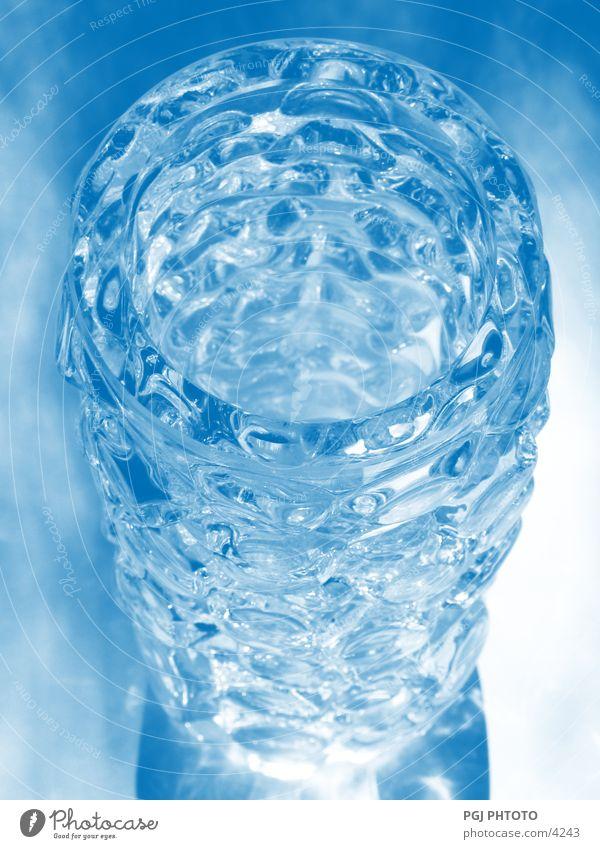 Glas Design Beleuchtung glänzend durchsichtig Vase