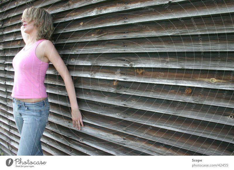 katja Frau feminin Holz rosa