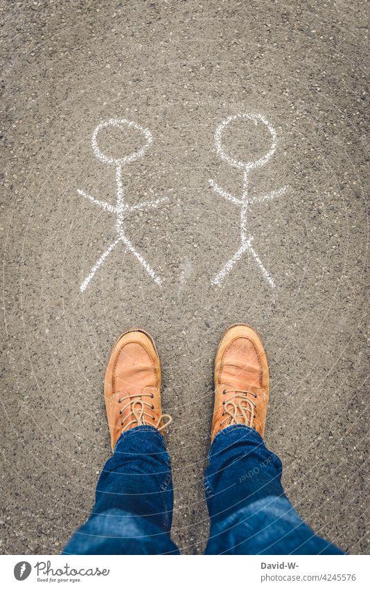 auf Männer stehen - Homosexualität schwul Liebe männlich Gedanken Paar gleichgeschlechtlich Bisexuell sehnsucht Menschen Partner Einsam Einsamkeit