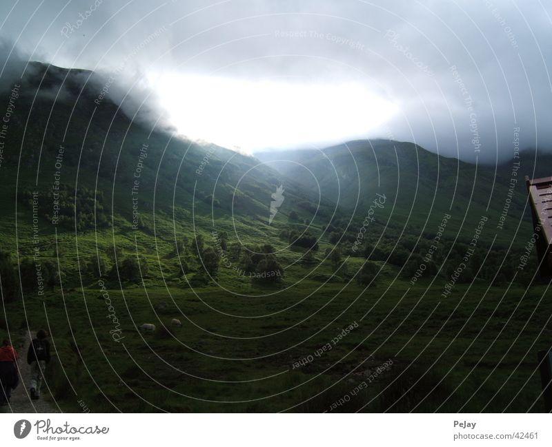 Highlands grün Berge u. Gebirge Wege & Pfade wandern Schottland Strahlung Schaf