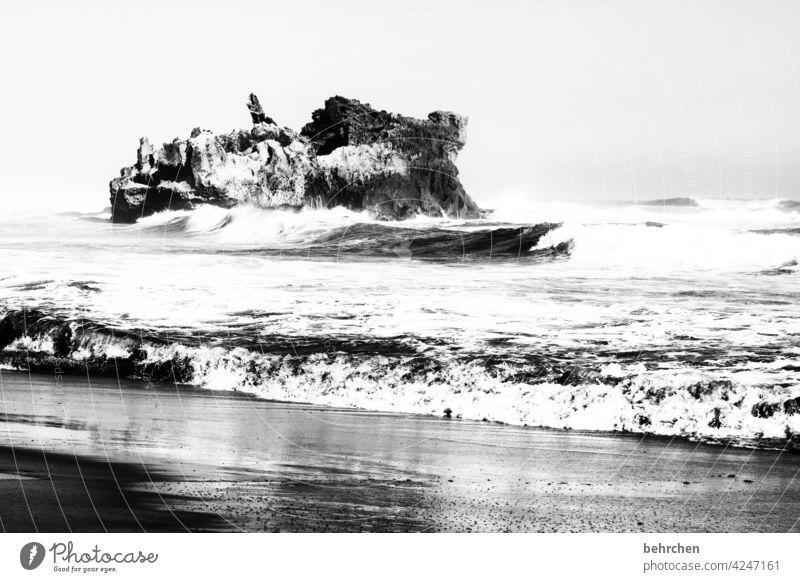 unverwüstlich Schwarzweißfoto Ozean besonders traumhaft Indischer Ozean Himmel Küste Südafrika knysna Wellen Landschaft Natur stürmisch wild unberechenbar