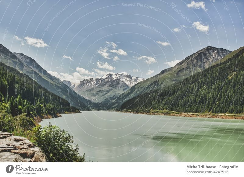 Gepatsch - Stausee im Kaunertal / Österreich Kaunertaler Gletscher Tirol Alpen Berge Gipfel Wasser See Gewässer Gebirge Täler Fels Felsen Landschaft Natur