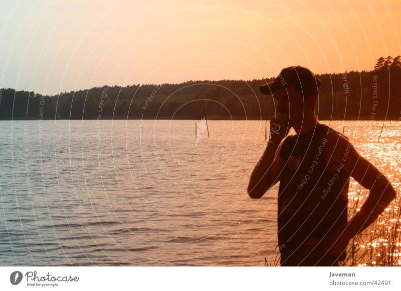See Momente Mann Natur Wasser See Filter