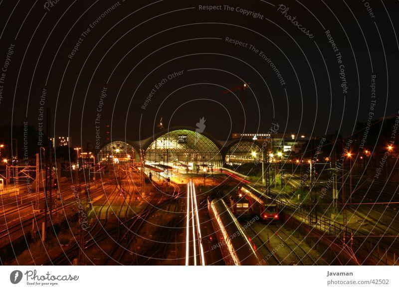 Bahnhof Dresden Verkehr Eisenbahn Gleise Straßenbahn