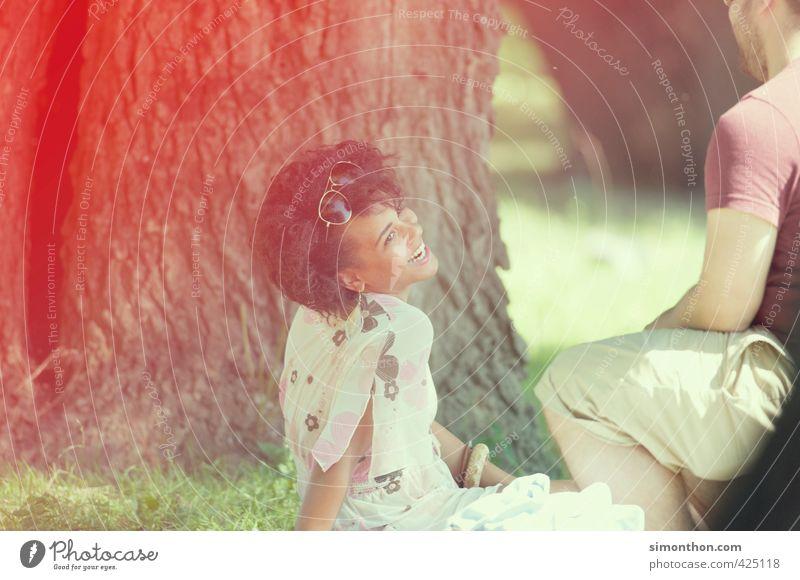 ausflug Natur Jugendliche schön Sommer Freude Erwachsene 18-30 Jahre Liebe Leben Glück Paar Freundschaft Zusammensein Fröhlichkeit Warmherzigkeit Pause