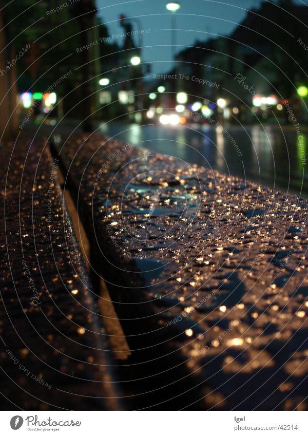 Regenbank Straße Regen Wassertropfen Bank Dinge