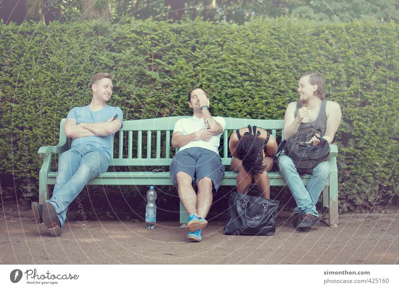 Freunde Mensch Jugendliche Ferien & Urlaub & Reisen Freude Erwachsene 18-30 Jahre Leben sprechen Glück Menschengruppe Freundschaft Stimmung Business