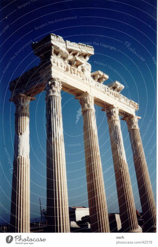 Tor zum Himmel alt blau Ferien & Urlaub & Reisen Kunst Erfolg Tourismus Denkmal historisch Wahrzeichen Säule Tourist antik Türkei Sehenswürdigkeit