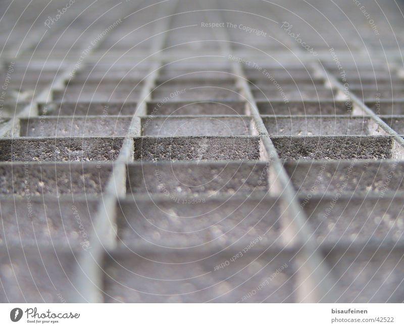 Raster aus dem Leben Wege & Pfade Metall Industrie Rost Staub Gitter Rechteck