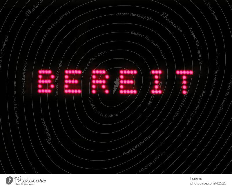bereit! Informationstechnologie TFT-Bildschirm Matrix Elektrisches Gerät Technik & Technologie ready Software Anzeige