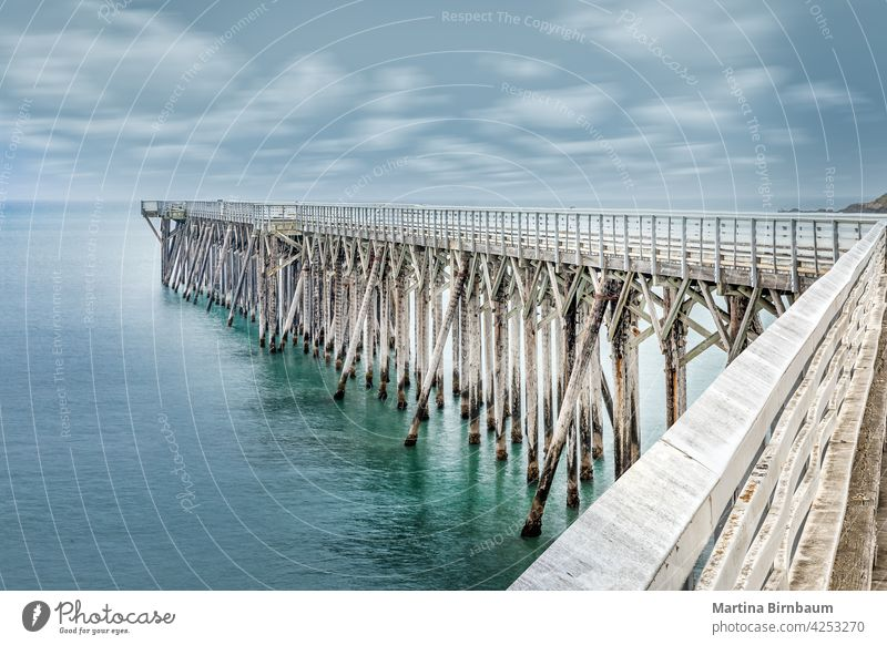 Pier von San Simeon am Strand des William Randolph Hearst Memorial, Kalifornien Brücke Erholung Bucht william randolph Hearst-Gedächtnis-Strand Gezeiten