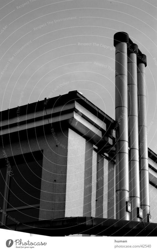 Schornstein Lemgo Architektur Schwarzweißfoto Industriefotografie