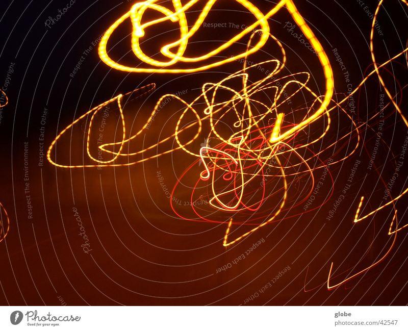 lampenswirl Streifen Nacht Lampe Langzeitbelichtung Kreis