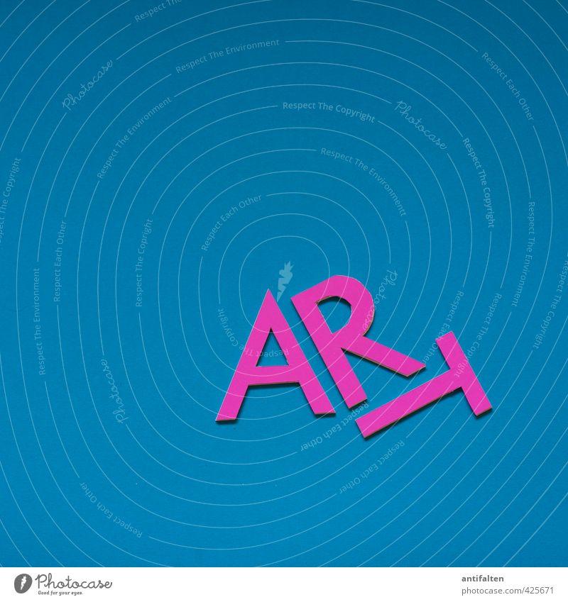 ISCHOCKEN | Esswahn blau Freude außergewöhnlich Kunst liegen rosa Fröhlichkeit Schriftzeichen Kommunizieren Papier Kreativität Buchstaben Kultur fantastisch