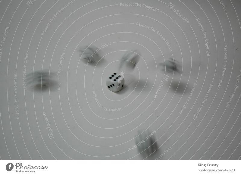 Die Würfel sind gefallen Spielen Bewegung Glück Beschluss u. Urteil Momentaufnahme Fototechnik Kniffel