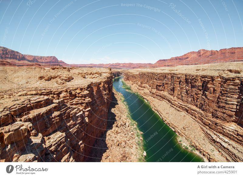 Navajo country Himmel Natur blau grün Sommer Landschaft Umwelt Sand Felsen Horizont braun Wetter orange Erde leuchten Schönes Wetter