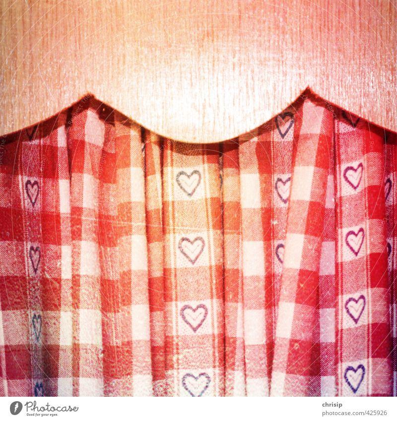ja damals ... alt weiß rot Innenarchitektur Holz Stil Kunst braun Raum Wohnung gold Häusliches Leben Herz Dekoration & Verzierung Streifen Zeichen