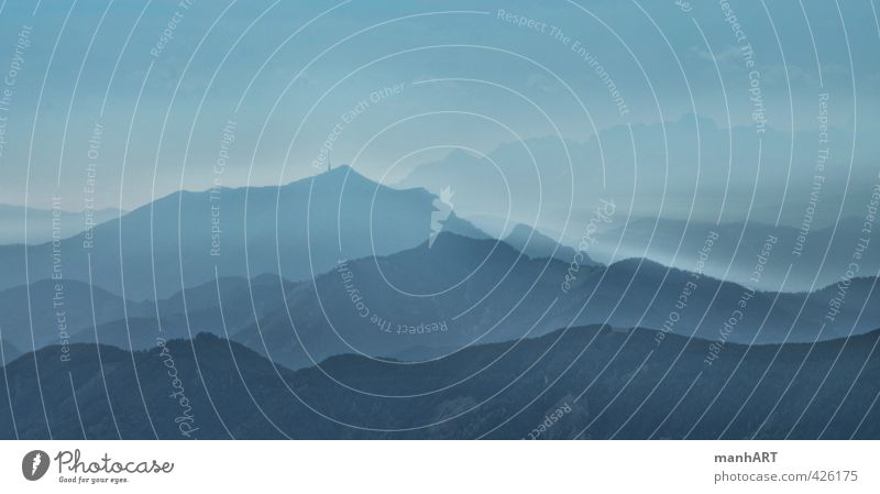 Power Of Silence Himmel Ferien & Urlaub & Reisen blau Einsamkeit Landschaft ruhig Freude Ferne Berge u. Gebirge Freiheit Stimmung Zufriedenheit träumen