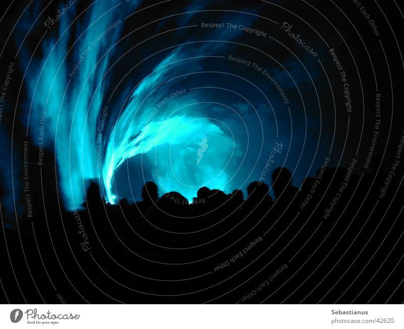 Lasershow #1 Licht Menschenmenge Nebel Freizeit & Hobby blau Kreis