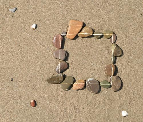 Eckbert Ferien & Urlaub & Reisen Sommer Strand Meer Raum Baustelle Küste Nordsee See Stein Sand Erholung eckig einzigartig Business Symbole & Metaphern Quadrat