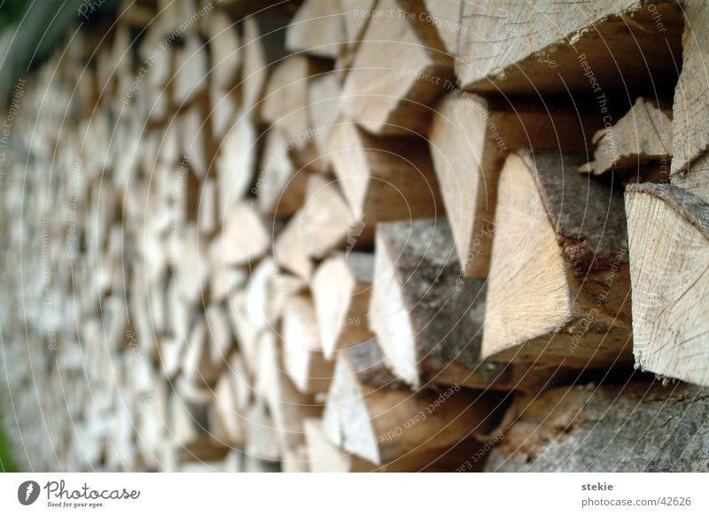 Holzstapel Natur brennen Brennholz Splitter
