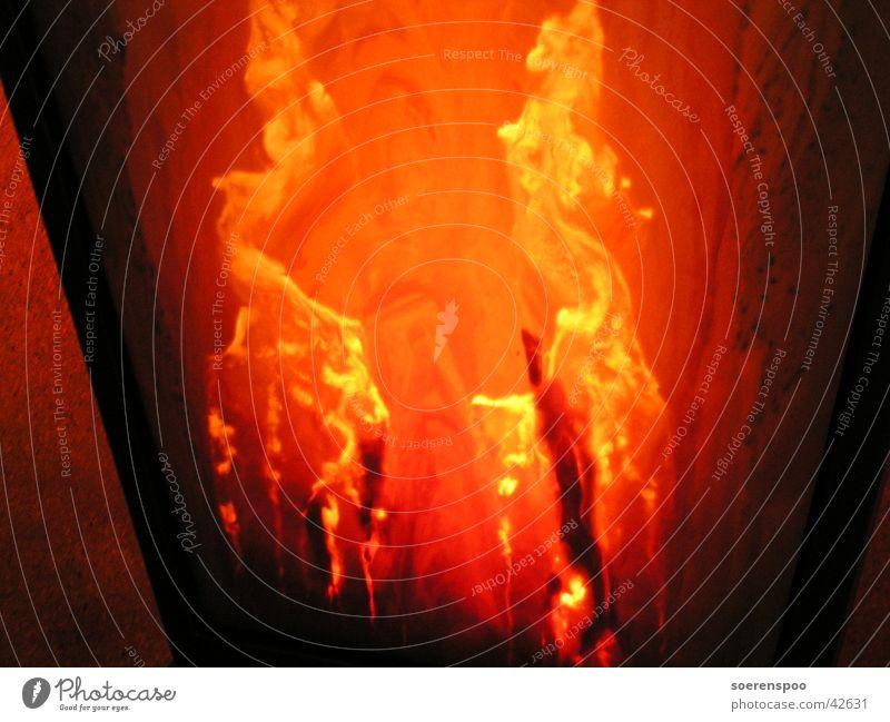 Haste ma` Feuer?! Lava rot heiß Licht brennen Science Center Bremen Brand Flamme orange