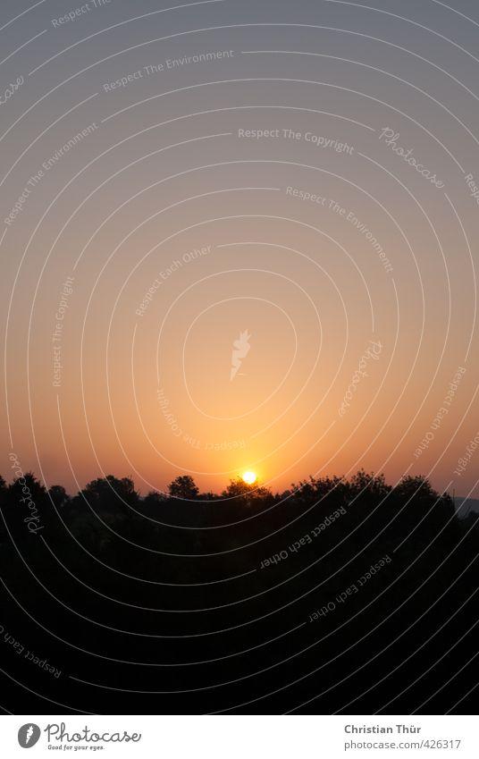 Sonnenuntergang im Sommer - Abendruhe Natur Ferien & Urlaub & Reisen blau schön Erholung ruhig Stil Glück Freiheit Stimmung träumen orange Zufriedenheit