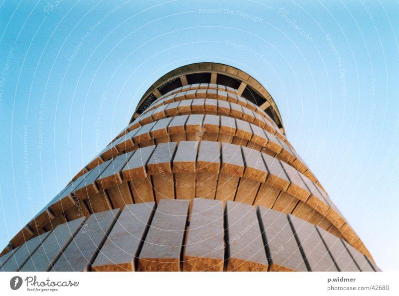 Botta Turm Moron Architektur Stein Jura Treppe Himmel