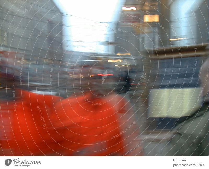 2 männer in orange Unschärfe Mensch face