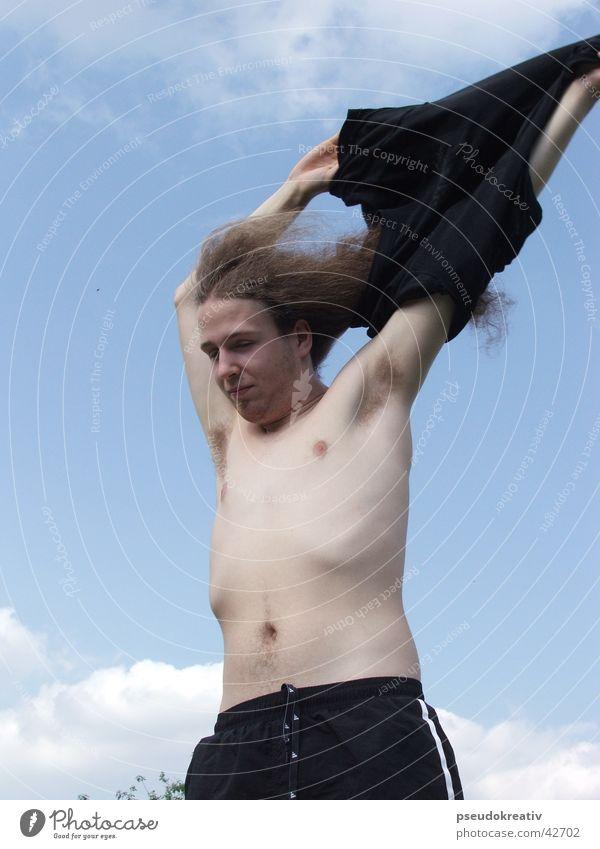 Freddi Mann schön T-Shirt dünn Freak hässlich entkleiden Stubenhocker