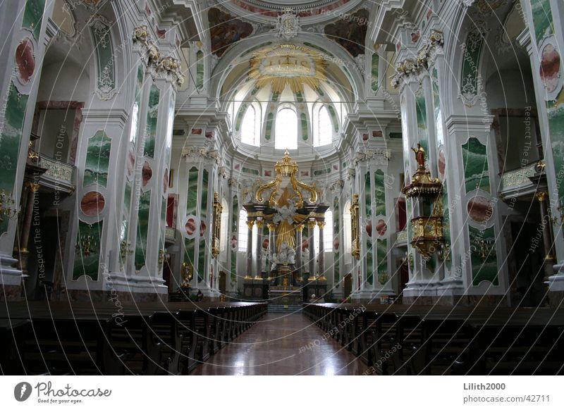 Jesuitenkirche in Mannheim Religion & Glaube Bank Kuppeldach Gotteshäuser Altar