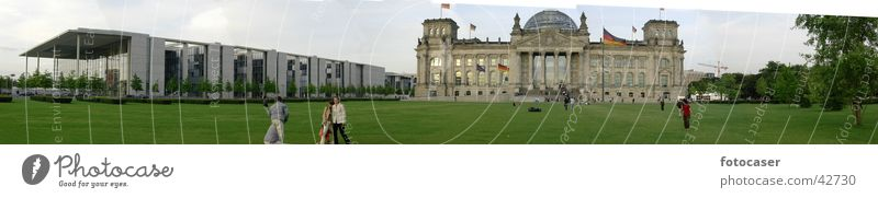 Bundestag Panorama Berlin Architektur groß Panorama (Bildformat) Deutscher Bundestag Regierungssitz
