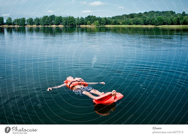 Keine Rettung in Sicht! Ferien & Urlaub & Reisen Abenteuer Freiheit Sommerurlaub maskulin Junger Mann Jugendliche 18-30 Jahre Erwachsene Natur Landschaft Wasser