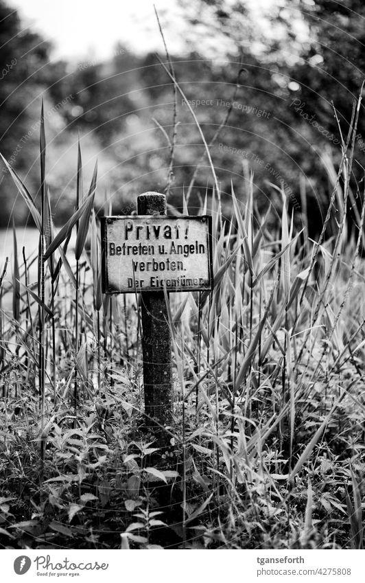 """Altes """"Privat"""" Schild Schilder & Markierungen Hinweisschild Verbotsschild Außenaufnahme alt rostig privatgrundstück Privatbesitz Betreten verboten Verbote"""