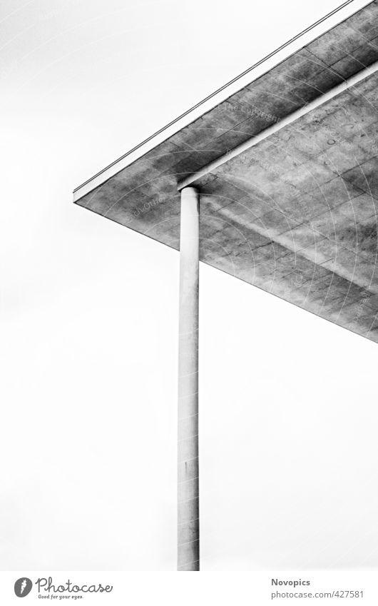 Berlin, Paul-Löbe-Haus, roof construction Stadt weiß schwarz Architektur Berlin Gebäude Fassade Kraft Erfolg Zukunft Beton Ecke planen Macht Dach Zusammenhalt